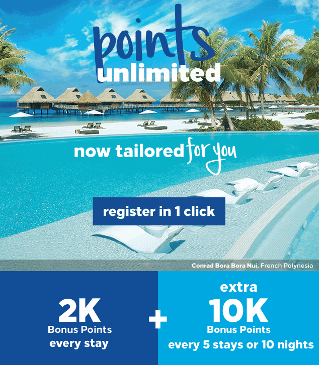 points unlimited hilton promotion q1 2019